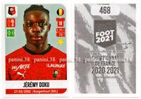 "RARE !! Sticker ROOKIE Jeremy DOKU ""FRENCH FOOT 2020-2021"" Panini"