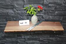 Wandboard massiv mit Baumkante Holz-Regalbrett Bord-Nuß #33 Baumkantenbord