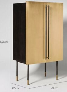Swoon Celeste Brass Drinks cabinet swoon Sideboard 2-3 Days Express Delivery