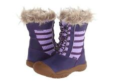 NIB BIG GIRL KIDS YOUTH 6 WOMEN 8 KEEN WAPATO WP PURPLE Waterproof LEATHER BOOTS