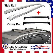 12-16 Honda CRV Roof Rack Side Rail+Cross Bars Bolt-On to OEM Factory Hole Mount