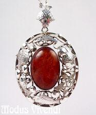 Seltener großer Fischland Bernstein Silberanhänger 835 Silber XXL silver pendant