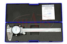 "SHARS 0- 6"" STAINLESS 4 WAY DIAL CALIPER .001"" SHOCK PROOF NEW"