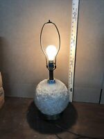 Rare Vintage Mid Century Modern Table Lamp Spun Fiberglass
