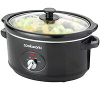 new Cook works 3.5L Compact Slow Cooker kitchen appliance black