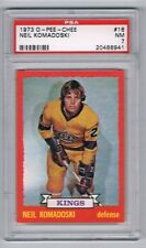 1973-74 O-Pee-Chee Hockey Card Los Angeles Kings Neil Komadoski RC Graded PSA 7