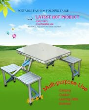 Multifunction strong aluminium Portable Outdoor Camping Table With Umbrella hole