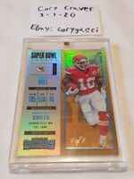 Tyreek Hill 2017 Contenders - Super Bowl Ticket 1/1! Chiefs Super Bowl Champ WR