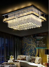 crystal rectangular LED chandelier light stair Ceiling Fixture Curtain Pendant