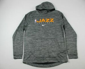 Utah Jazz Nike Sweatshirt Men's Gray Dri-Fit NEW Multiple Sizes