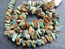 """*CLEARANCE*  2 STRINGS x MEXICAN TURQUOISE CHIPS, 5x6mm 14"""" strands, 140 beads"""