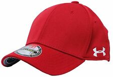 UNDER ARMOUR Red MEDIUM Stretch Fit Mens Cap Hat - NWT Baseball Golf Hat