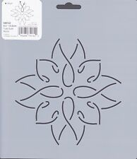 Quilting Stencil Template - Round Tulip Bulb Block Design - Made in the US