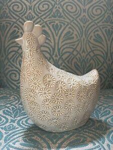 Next Large Ceramic Chicken Ornament Farm Animal Sculpture Table Centrepiece