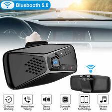 Wireless Bluetooth 5.0 Handsfree Car Auto Kit Speakerphone Speaker for MP3 Phone