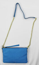 Fossil Womens Sydny Chain Medium Blue Purse Handbag Bag Ret $128 New