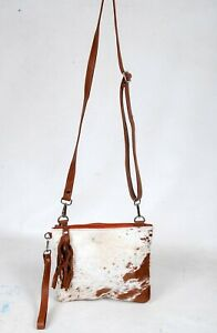 Real Cowhide Cross body Purse Handbag & Shoulder Bag Clutch Cow Leather SB-6960