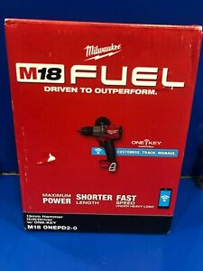 Milwaukee M18ONEPD2-0 18V Li-ion Cordless Fuel NEX GEN ONE-KEY Hammer Drill