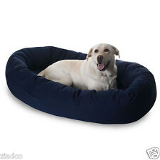 """Huge 52"""" Round Dog Pet Large Breed XL Bagel Bed for 70 - 110 Lb Dogs BLUE NEW"""