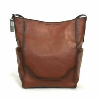 FRYE NWT COGNAC LEATHER SIDE POCKET HOBO BAG $348!
