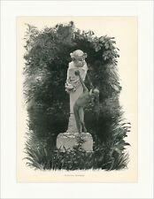 M. Gasteiger. puits groupe jardin statue eau cracher pilier Gravure sur bois e 8785