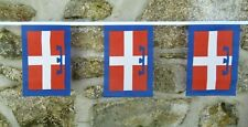 More details for piedmont region italy flag polyester bunting - 6 metre length