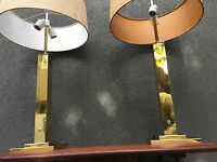 PAIR BRASS NESSEN STUDIOS TABLE LAMP MID CENTURY MODERN VINTAGE EAMES ERA