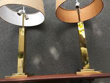 PAIR BRASS NESSEN STUDIOS TABLE LAMP MID CENTURY MODERN VINTAGE EAMES ERA