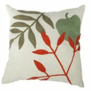 A&B Home Multicolor 20 x 20-Inch Embroidered Pillow