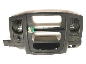 2002-2005 Dodge Ram Dash Bezel BLACK Radio Surround Vents Trim Climate Factory