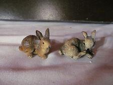 2 Resin Bunny Rabbit Figurines Easter Bunny