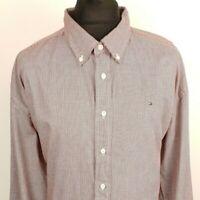 Tommy Hilfiger Mens Casual Shirt XXL 2XL Long Sleeve Regular Fit Check Cotton