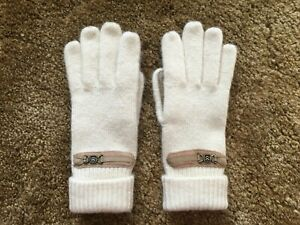Isotoner Knits by ARIS cream tan Women Gloves ONE SIZE Vintage Nice!!
