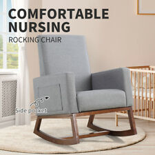 Rocking Chair Nursing Baby Feeding Armchair Lounge Sofa Fabric Patio Garden