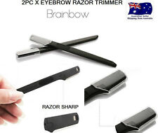 TWO X Face Eyebrow Hair Removal Safety Razor Trimmer Shaper Shaver Blade brow