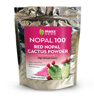Maxx Herb Nopal 100 - 10oz - Red Nopal Cactus Powder - Organic - 1 Bag
