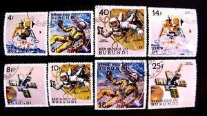 236-39 BRUNDI SPACE SET CTO OG (SEE DESCRIPTION)