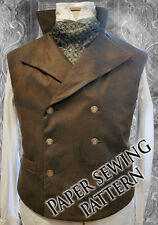 XL Steampunk Double Breasted Waistcoat Sewing Pattern.Sweeney Todd chest 48/58