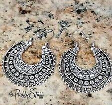 Silver Hoop Earring Boho Wedding Vintage Jhumka Earring Bridal Jewelry Bohemian