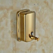 Gold-Plate Soap Dispenser Pump Wall Mounted & Stainless In Bathroom & Kitchen
