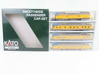 N Scale Kato 106-1102 UP Union Pacific Smoothside Passenger 4-Car Set B