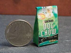 Dollhouse Miniature Bag Dog Food 1:12   one inch scale  Dollys Gallery  F37