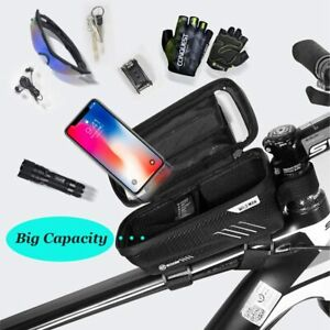 Waterproof MTB Bike Phone Holder Front Bag Top Tube Case Frame Pouch Screentouch