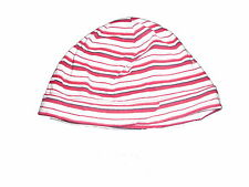 Tolle Mütze Gr. 80 / 86 rosa-rot gestreift !!