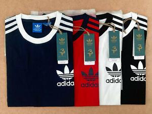 Adidas T Shirt Mens Crew Neck Short Sleeve Original California 100% Setisfection