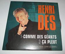 Henri des - comme des géants - cd promo 2 titres 2002
