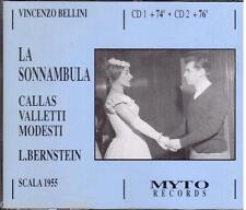 Bellini: La Sonnambula / Bernstein, Callas, Valletti, Scala 1955 - CD Myto