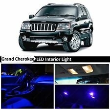 1999-2004 Jeep Grand Cherokee Blue Interior + License Plate LED Lights Package