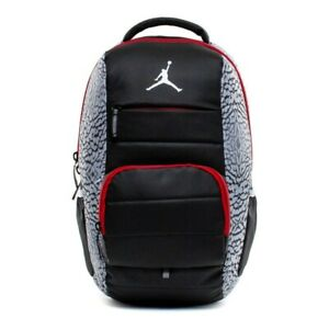 Nike Jordan Jumpman All World Elephant Print Backpack Black Grey Red 9A1640 176