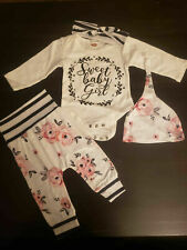 Baby Girl New Born Clothes 0-3 Month Set of 4